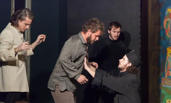 Fratii Karamazov la Teatrul Elisabeta, Andrei Ciopec, Costi Apostol, Daniel Achim, Liviu Popa