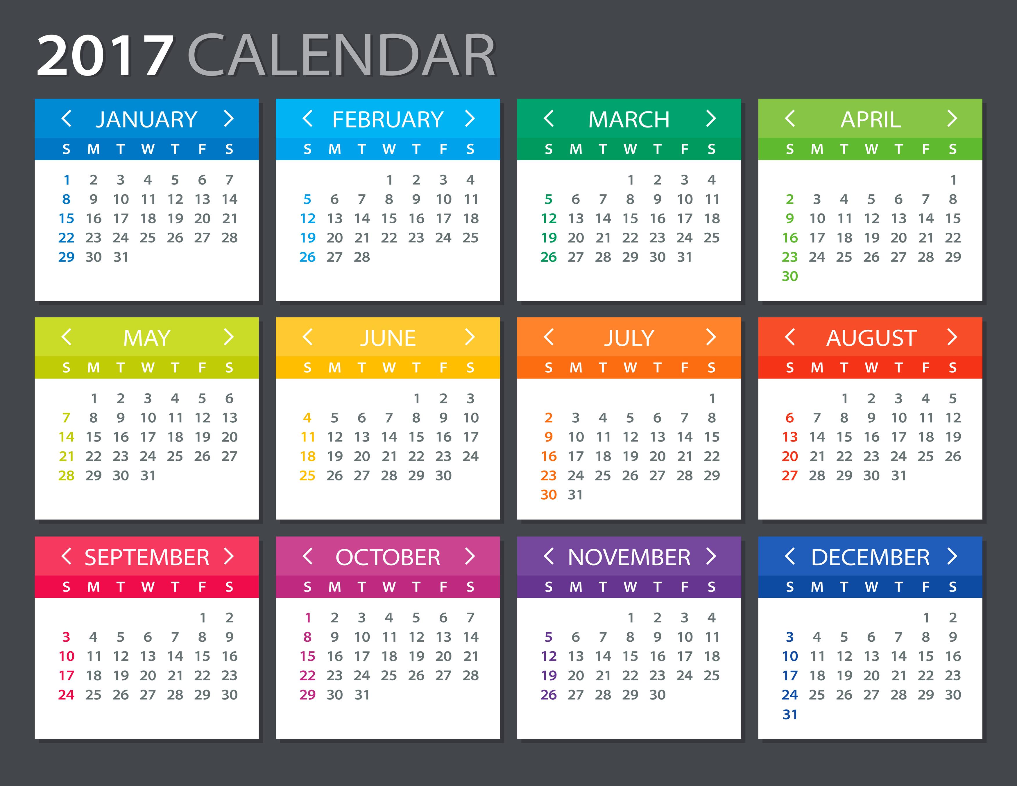 zile libere în 2017. calendarul liberelor legale
