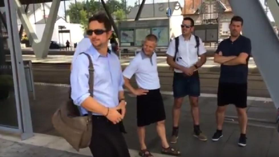 Motivul pentru care mai mulți șoferi de autobuz s-au îmbrăcat în fustă