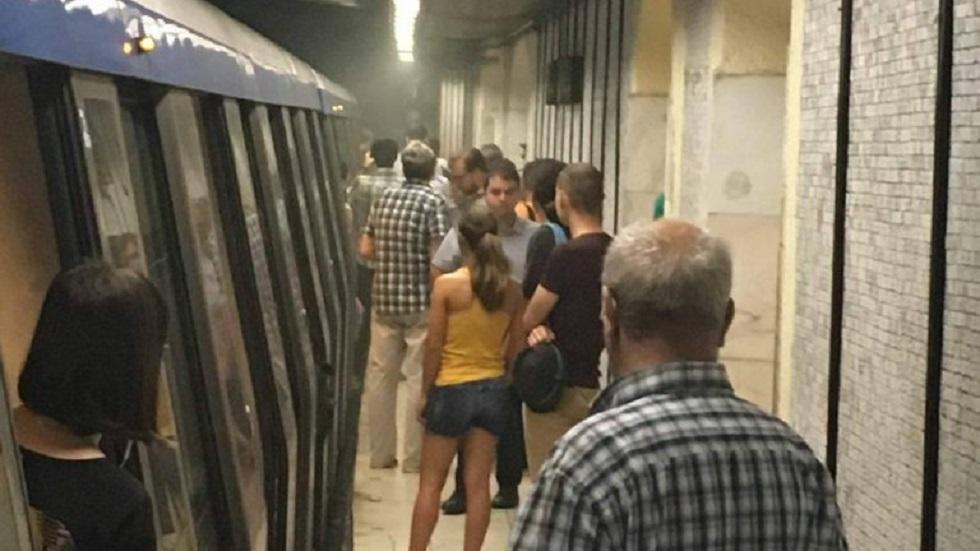 fum la metrou Piața Victoriei