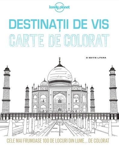 Descoperiți destinații de vis în această carte de colorat antistres pentru adulti, pe care o găsiți aici.