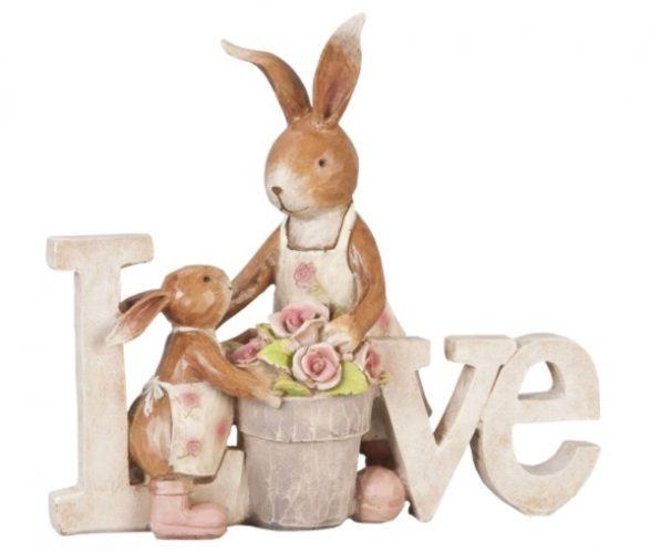 Decorațiuni de Paște-figurină cu iepuri