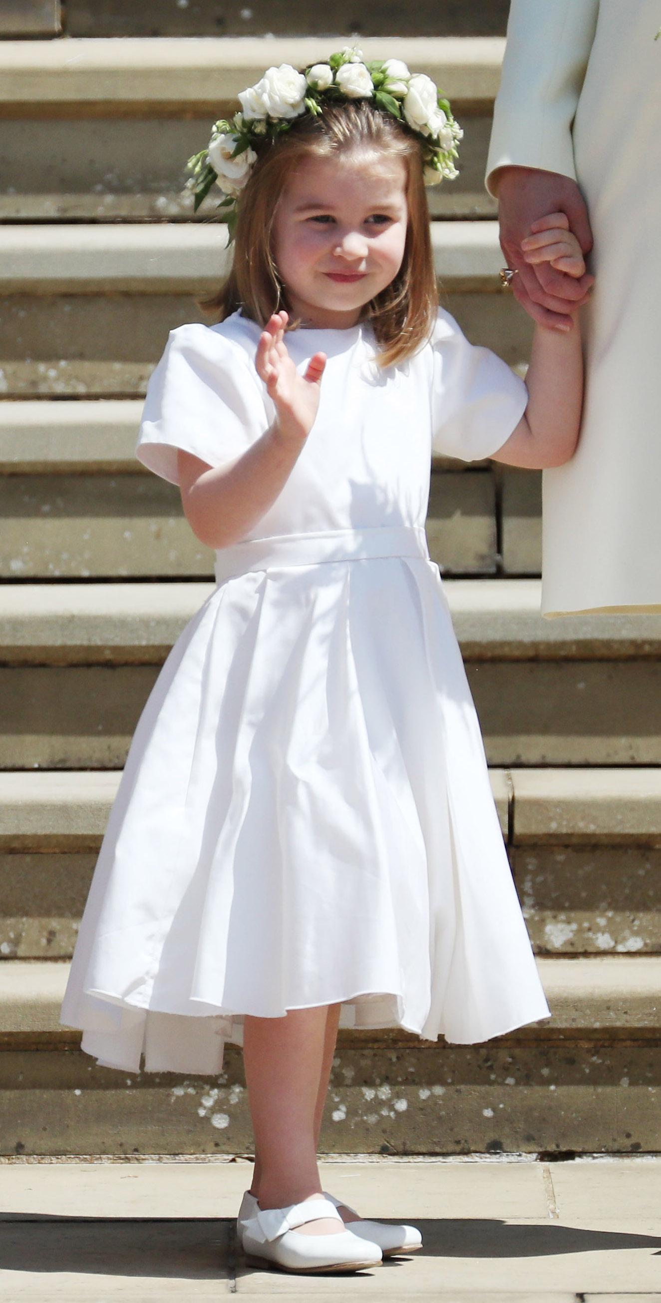 Prințesa Charlotte surprinsă într-o ipostază adorabilă la nunta regală