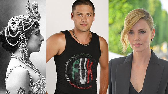 Personalitățile născute în Zodia Leului pe 7 august, Mata Hari, Charlize Theron, Augustin Viziru