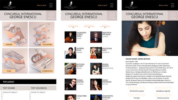 Aplicația pentru mobil Jurat Enescu