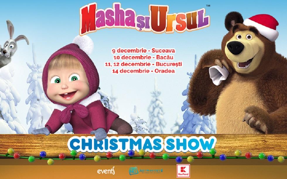 Masha și Ursul se întorc în România. Un Crăciun de poveste alături de cele mai îndrăgite personaje animate din lumea Internetului