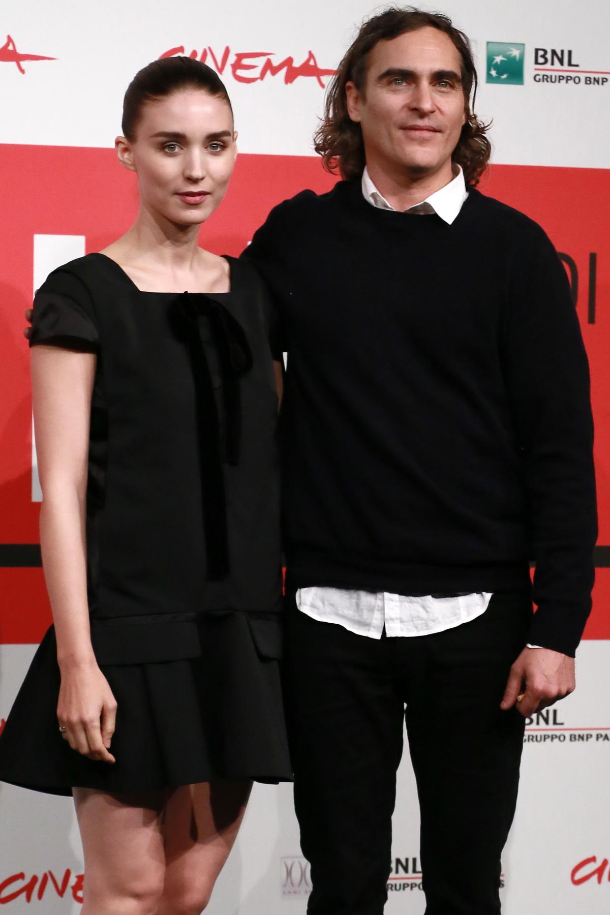 Joaquin Phoenix și Rooney Mara, Roma 2013