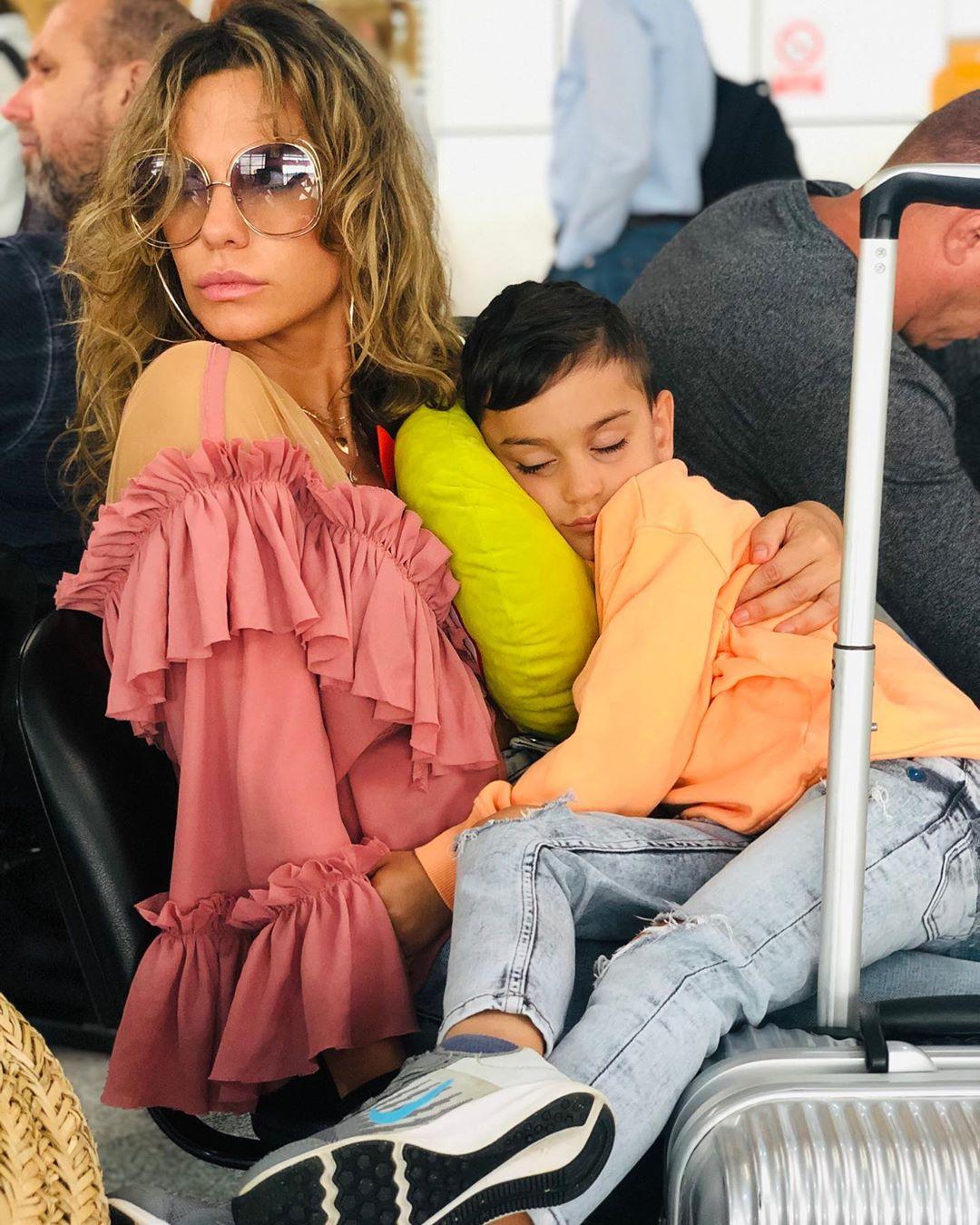 Anna Lesko și fiul ei Adam